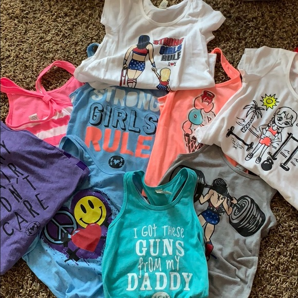 Other - Girls Workout Tanks and Tees Size 5/6